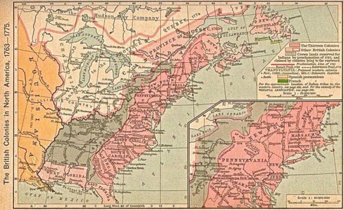 tredici colonie inglesi