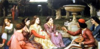 I giovani protagonisti del Decameron in un dipinto di John William Waterhouse