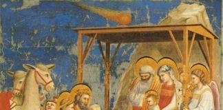 Adorazione dei Magi, Giotto, 1303-1305 circa, Cappella degli Scrovegni, Padova.