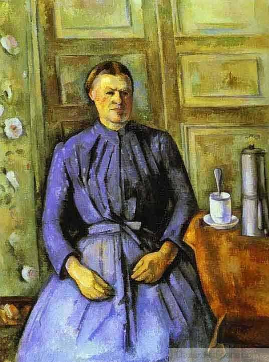 Donna con caffettiera di Paul Cézanne