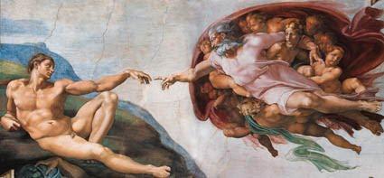 Michelangelo Buonarroti, 1511 ca., affresco, 280x570 cm, Cappella Sistina, Musei Vaticani, Città del Vaticano.