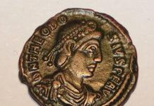 Editto di Tessalonica o Editto di Teodosio - Moneta con l'effigie di Teodosio I il Grande, IV secolo d.C.