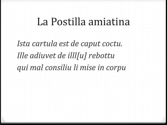 La Postilla amiatina - dal latino al volgare