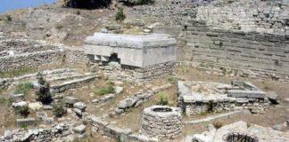 Le rovine dell'antica città di Troia, in Turchia