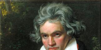 Ludwig van Beethoven ritratto da Joseph Karl Stieler nel 1820.