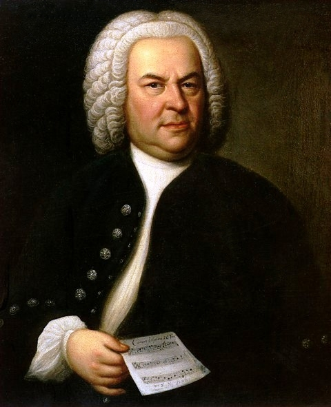 Johann Sebastian Bach in un ritratto del 1748