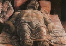 Cristo morto di Andrea Mantegna, 1480 circa, tempera su tela, 66x81 cm, Milano, Pinacoteca di Brera