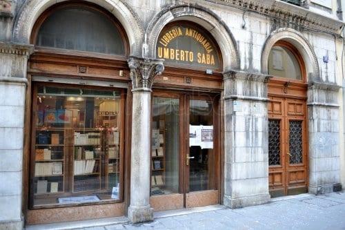 Libreria Antiquaria Umberto Saba - Via San Nicolò, nel centro di Trieste.
