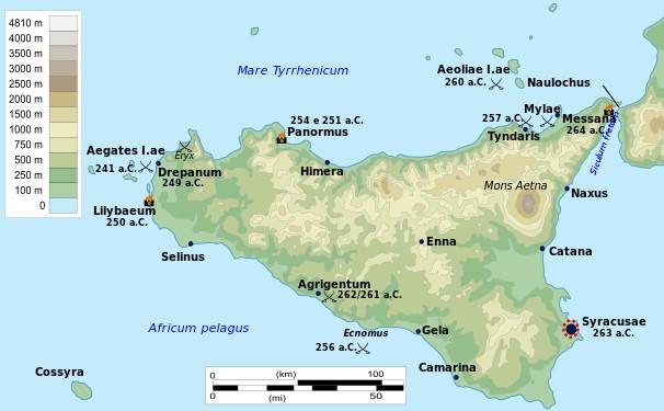 La Sicilia durante la Prima Guerra Punica (264-241 a.C.)