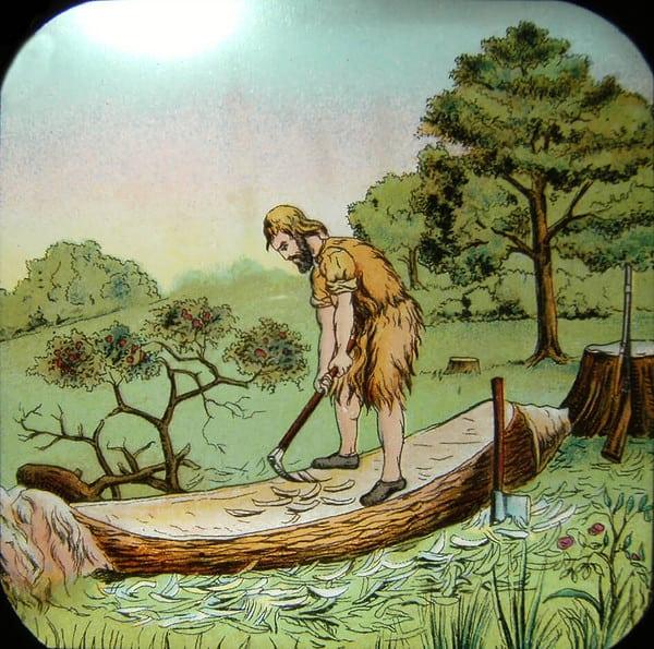 crusoe e la canoa