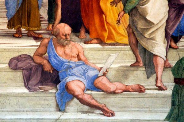 Diogene, particolare della Scuola di Atene