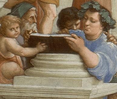Epicuro, particolare della Scuola di Atene