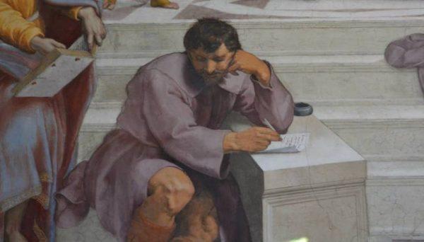 Eraclito, particolare della Scuola di Atene