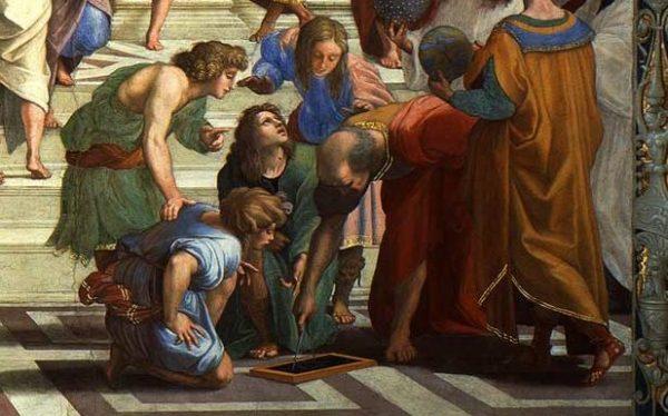 Euclide, particolare della Scuola di Atene