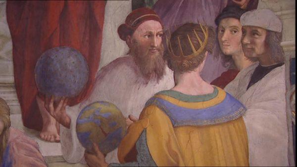 Tolomeo e Zoroastro, particolare della Scuola di Atene