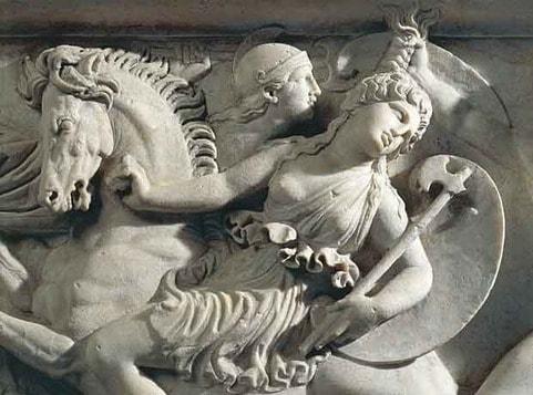 Amazzonomachia - combattimento tra i Greci e le Amazzoni