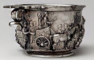 Coppa argentea, inizio del I secolo d.C. [dalla villa di Boscoreale, Museo del Louvre, Parigi]