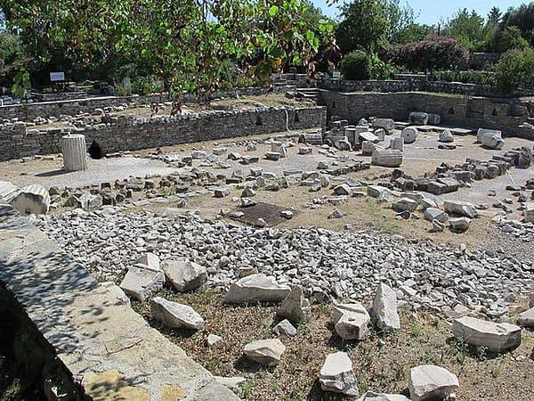 I resti del Mausoleo di Alicarnasso