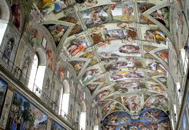 Soffitto A Volta Affrescato : Cappella sistina gli affreschi della volta studia rapido