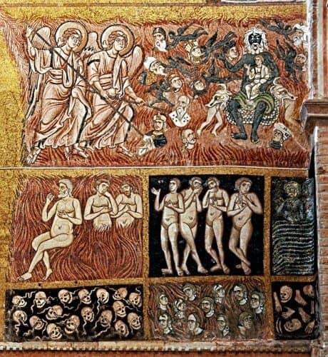 I dannati del Giudizio universale del duomo di Torcello (XII secolo)