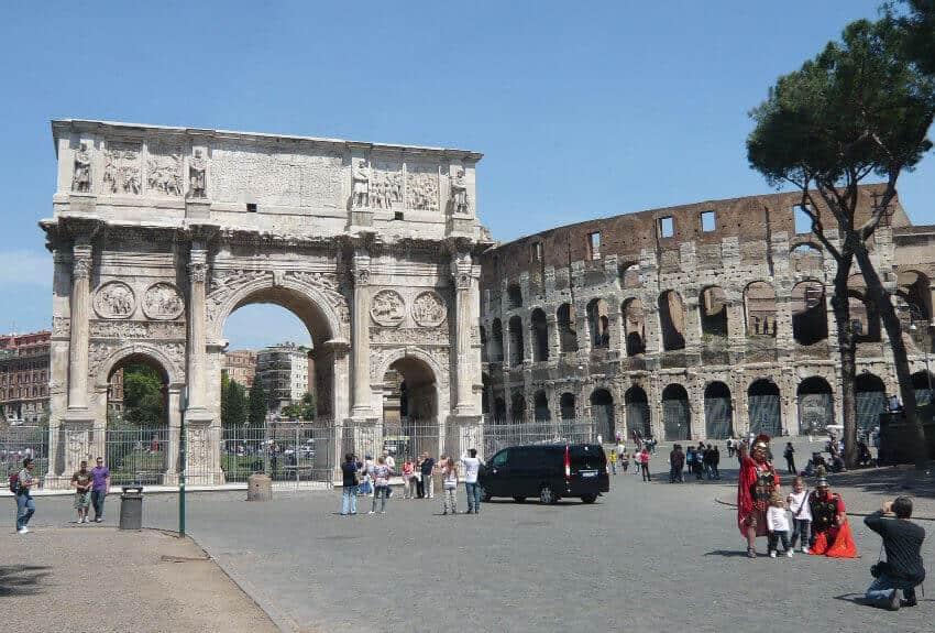 Arco di costantino ultimo dei grandi archi trionfali di for Archi arredo roma