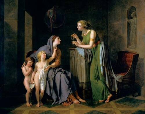 Cornelia chiama i suoi figli e dice con orgoglio: