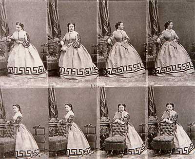 "Adolphe-Eugène Disdéri, ""Carte di visite"" della principessa Gabrielle Bonaparte, 1862 circa, Austin (Texas), Gernsheim Collection"