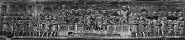 fregio costantiniano con il discorso di Costantino nel Foro romano
