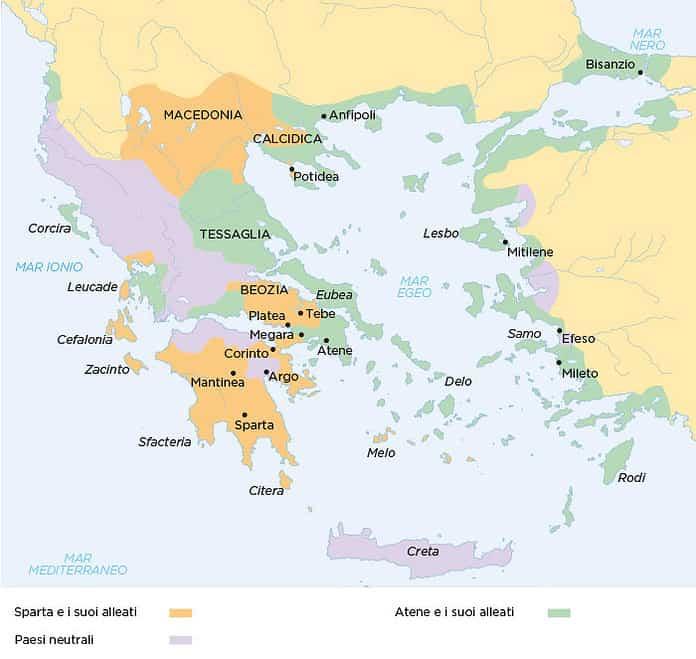 guerra del peloponneso 431 a.C.- 404 a.C.