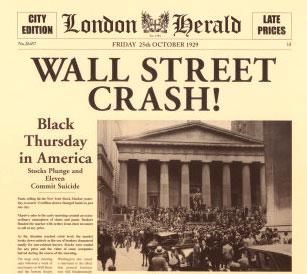 Il crollo della Borsa di New York