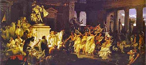 saturnali, feste in onore di saturno