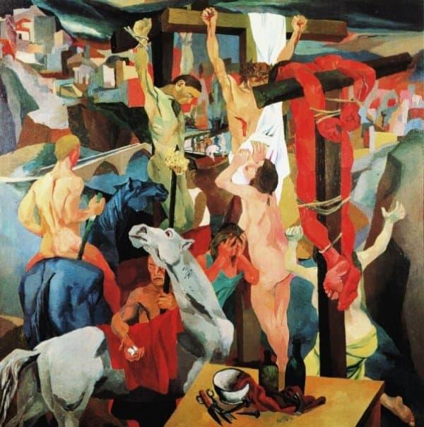Crocifissione di Renato Guttuso, analisi dell'opera