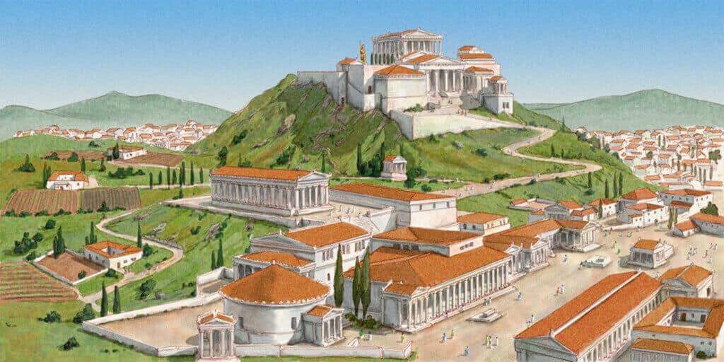 La polis greca caratteristiche della citt greca studia for 1 case di storia