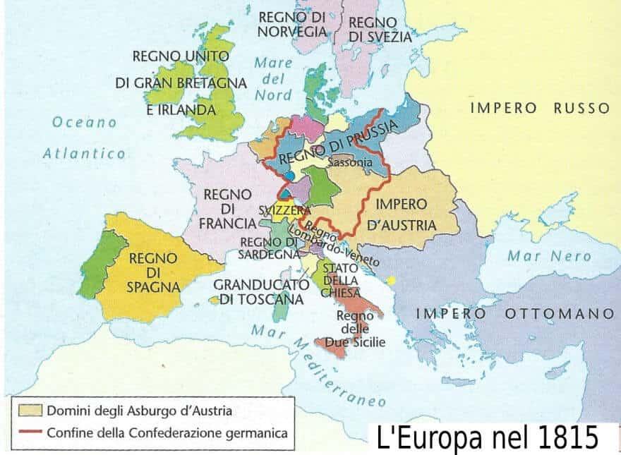 Cartina Europa 1800.Il Primo Ottocento 1800 1850 Storia E Letteratura Studia