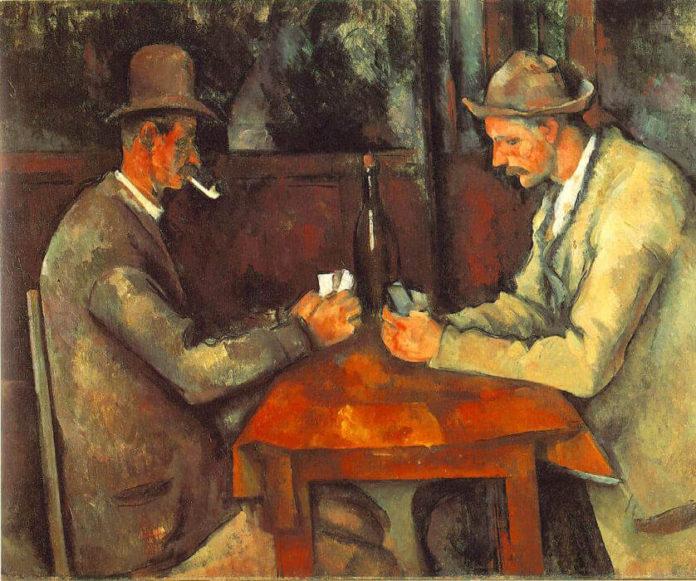 i giocatori di carte di cézanne