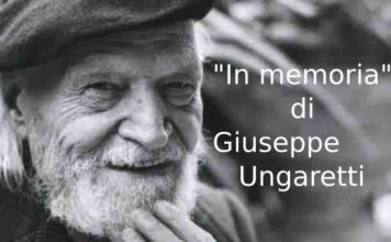 In memoria di Giuseppe Ungaretti