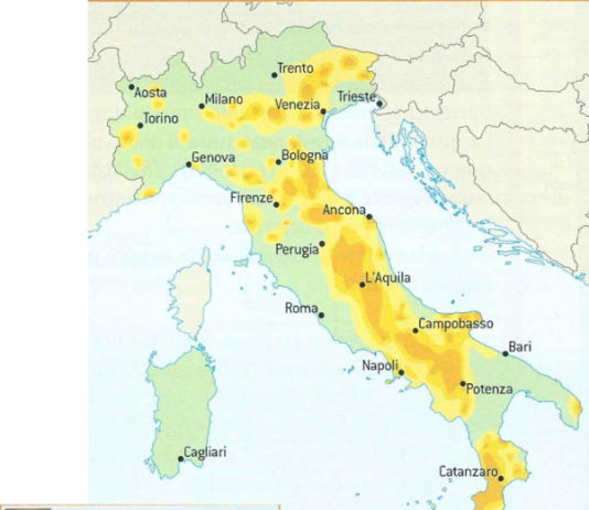 Terremoto. Rischio sismico in Italia