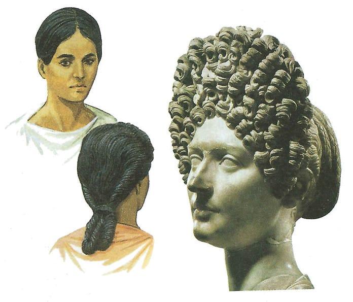 capelli nell'antichità : stili e mode