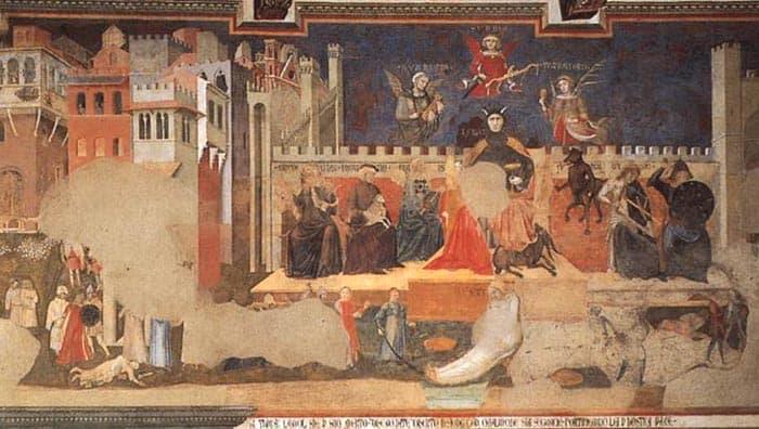 Sala Del Consiglio Dei Nove Siena.Allegoria Del Buono E Del Cattivo Governo Studia Rapido