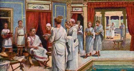 clienti nella società romana