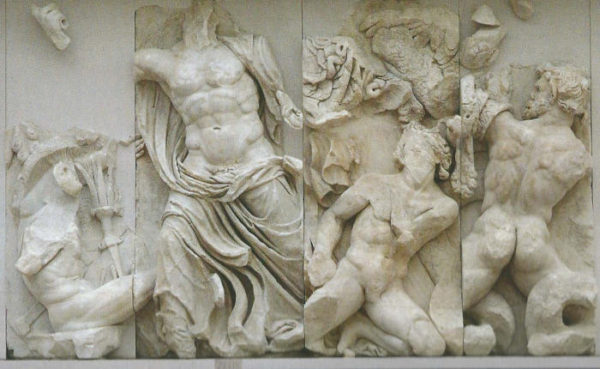 Zeus e Porfirione Altare di Pergamo