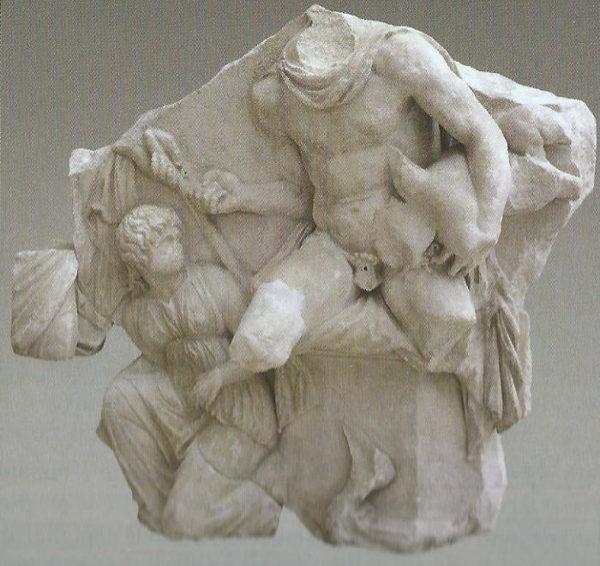 Telefo con il piccolo Oreste Altare di Pergamo