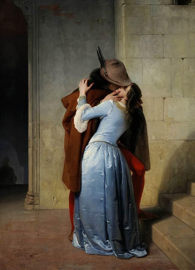 il bacio di francesco hayez, 1859
