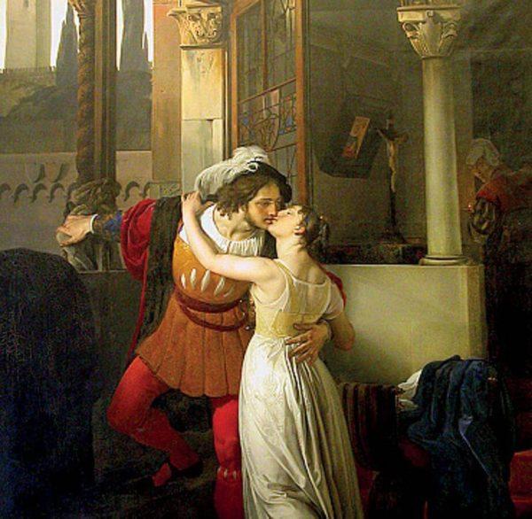 ultimo bacio di romeo e giulietta di francesco Hayez