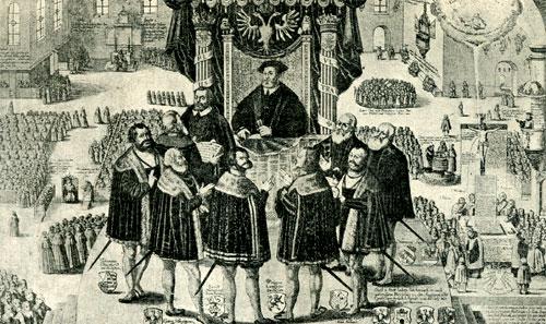 la pace di augusta, 1555