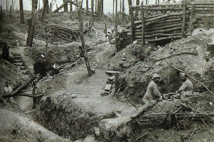 le trincee della prima guerra mondiale