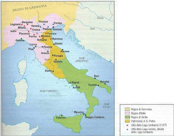 L'Italia al tempo di Federico Barbarossa