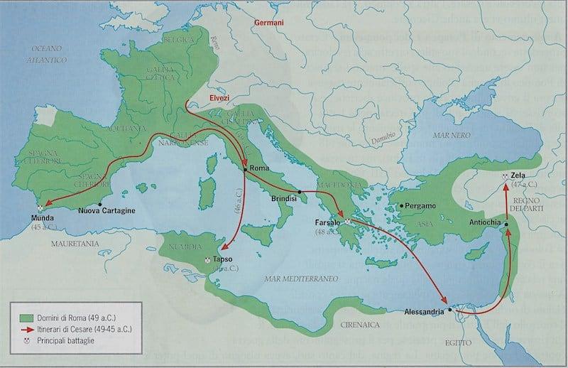 Il Calendario Romano Riassunto.Guerra Civile Del 49 45 A C Cesare Contro Pompeo Studia