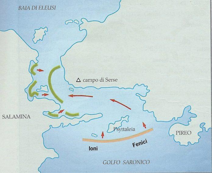 Battaglia di Salamina, 480 a.C. Riassunto