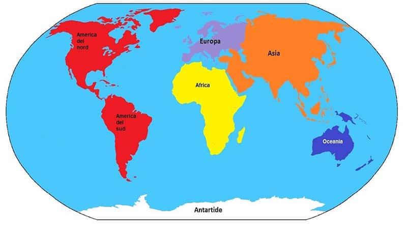Continenti cosa quanti e quali sono studia rapido for Quanti sono i membri del parlamento italiano